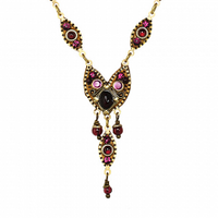 Michal Golan Garnet Collection - Multi Oval Shape Pendant on Single Chain Necklace ~ N3535