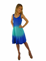 Luna Luz Double Dip Ombre Dress~Lapis/Sea Breeze~409W