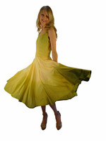 Luna Luz Double Dip Ombre  Dress~Celery/Banana~534W