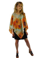 Hand Painted Silk Poncho~Franklin Street Studio