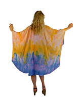 Hand Painted Silk Wrap~Franklin Street Studio~FS1022