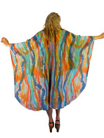 Hand Painted Silk Wrap~Franklin Street Studio~FS1023