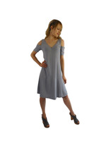 Luna Luz Positano Off The Shoulder  Dress~Paris Grey~360PG