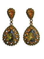 GREEN TAPESTRY CRYSTAL EARRINGS by Sorrelli~ECW47AGGTA