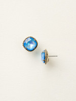 Sorrelli Essentials~Ultra Blue Crystal Earrings~EBX10AGUB