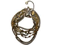 ***ONE OF A KIND***PEARL LUSTER Crystal Bracelet by Sorrelli~BDH11AGPLU