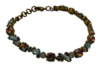 ***ONE OF A KIND***CRYSTAL PATINA Crystal Bracelet  by Sorrelli~BDH13AGCRP