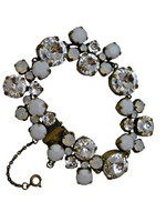 ***ONE OF A KIND***PEARL LUSTER  Crystal Bracelet by Sorrelli~BCW10AGPLU