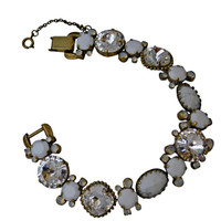 ***ONE OF A KIND***PEARL LUSTER  Crystal Bracelet by Sorrelli~BDE1AGPLU
