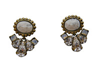 ***ONE OF A KIND***PEARL LUSTER  Crystal Earrings by Sorrelli~EDE19AGPLU