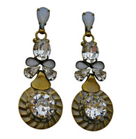 ***ONE OF A KIND***PEARL LUSTER  Crystal Earrings by Sorrelli~EDH19AGPLU