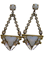 ***ONE OF A KIND***PEARL LUSTER  Crystal Earrings by Sorrelli~EDH35AGPLU