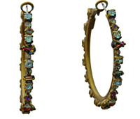 ***ONE OF A KIND***CRYSTAL PATINA Crystal Earrings by Sorrelli~EDB8AGCRP