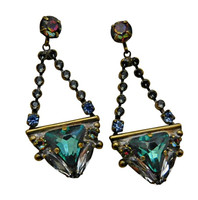 ***ONE OF A KIND***CRYSTAL PATINA Crystal Earrings by Sorrelli~EDH35AGCRP