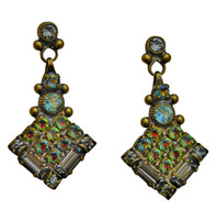 ***ONE OF A KIND***CRYSTAL PATINA Crystal Earrings by Sorrelli~EDH36AGCRP
