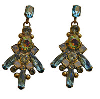 ***ONE OF A KIND***CRYSTAL PATINA Crystal Earrings by Sorrelli~EDH42AGCRP