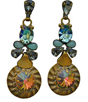 ***ONE OF A KIND***CRYSTAL PATINA Crystal Earrings by Sorrelli~EDH19AGCRP