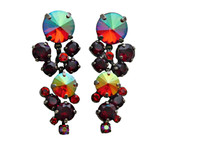CRANBERRY Crystal Earrings by Sorrelli~ECW10ASCB