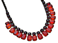 CRANBERRY Crystal Necklace by Sorrelli~NCW7ASCB