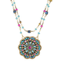 Michal Golan Blue Flower Necklace