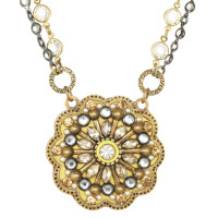 Michal Golan Yellow Flower Necklace