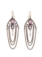 **SPECIAL ORDER**Sorrelli PINK PEONY Crystal Earrings~EDN101AGPP