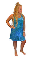 Ice Tye Dye Tank Dress by Martha~Turquoise