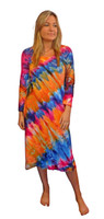 Ice Tye Dye Midi Dress by Martha~Hawaiian Sunset