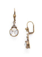 **SPECIAL ORDER**ANTIQUE GOLD CRYSTAL Earrings by Sorrelli~EDG3AGCRY
