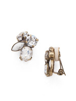 **SPECIAL ORDER**ANTIQUE GOLD CRYSTAL Clip Earrings by Sorrelli~EDG11CAGCRY
