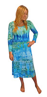 Ice Tye Dye Midi Dress by Martha~Aqua