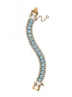 ***SPECIAL ORDER***DENIM BLUE Crystal Bracelet by Sorrelli~BDM47AGSMR