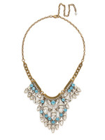 ***SPECIAL ORDER***DENIM BLUE Crystal Mini Tribal Statement Necklace by Sorrelli~NDM49AGSMR