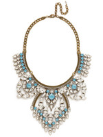 ***SPECIAL ORDER***DENIM BLUE Crystal Tribal Statement Necklace by Sorrelli~NSP85AGSMR