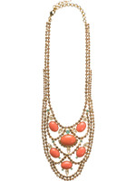 CORAL REEF CRYSTAL NECKLACE BY SORRELLI ~NCU22BGCOR
