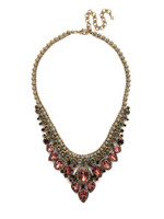 Mahogany Crystal Statement Necklace~NDQ3AGM