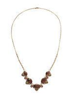 Mahogany Crystal Statement Necklace~NDQ12AGM