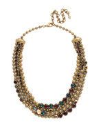 Mahogany Crystal Statement Necklace~NDQ5AGM