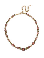 Mahogany Crystal Statement Necklace~NCD2AGM