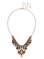 Mahogany Crystal Statement Necklace~NDQ4AGM