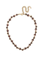 Mahogany Crystal Statement Necklace~NDQ36AGM