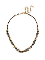 Mahogany Crystal Statement Necklace~NCF6AGM