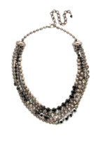 SORRELLI BLACK ONYX CRYSTAL NECKLACE ~NDQ5ASBON