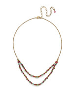 **SPECIAL ORDER**Sorrelli Botanical Brights Crystal Necklace~ NDR1AGBOT