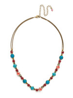 **SPECIAL ORDER**Sorrelli Botanical Brights Crystal Necklace~ NDR4AGBOT