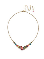 **SPECIAL ORDER**Sorrelli Botanical Brights Crystal Necklace~ NDK16AGBOT