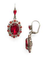 Red Ruby Crystal Earrings~ECK14ASRRU