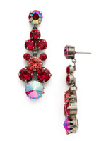 Red Ruby Crystal Earrings~EDH27ASRRU
