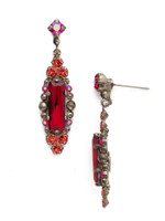 Red Ruby Crystal Earrings~ECJ24ASRRU