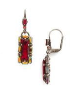 Red Ruby Crystal Earrings~ECK12ASRRU